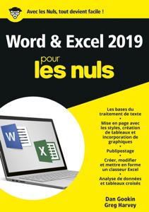 Word et Excel 2019 pour les Nuls Couverture de livre