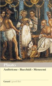 Anfitrione – Bacchidi – Menecmi Copertina del libro