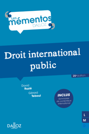 Droit international public - 25e éd.