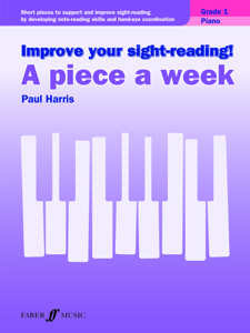 Improve your sight-reading! A Piece a Week Piano Grade 1 Copertina del libro