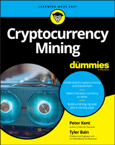 Cryptocurrency Mining For Dummies Copertina del libro