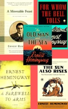 Ernest Hemingway Collection 5 Books Set: The Old Man And The Sea, The Sun Also Rises, For Whom The Bell Tolls, A Moveable Feast, A Farewell To Arms.