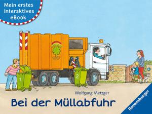 Mein erstes interaktives eBook: Bei der Müllabfuhr Buch-Cover