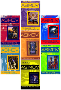 The Complete Isaac Asimov's Foundation Series Books 1-7 Boekomslag