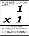 MULTIPLICATION WEEKLY Flash Card Style Multiplication Study Book
