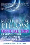 Official 2019 Michelle M Pillow Reading Guide And Complete Book Checklist
