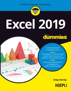 Excel 2019 for dummies Copertina del libro