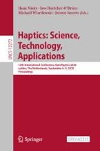 Haptics: Science, Technology, Applications