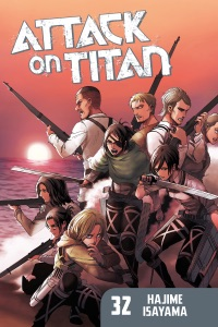 Attack on Titan Volume 32 by Hajime Isayama Book Cover