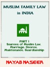 Muslim Family Law In India Part 1 Sources Of Law Marriage Divorce Maintenance Guardianship