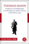 Fragmente Von Einfhrungen Zu Vorlesungen Aus Doktor Faustus In Der Schweiz 1947