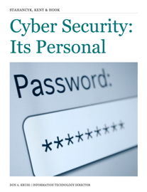 Cyber Security: It's Personal