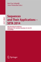 Sequences And Their Applications - SETA 2014