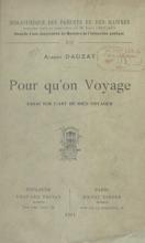 Pour Qu'on Voyage
