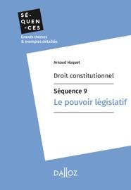 Droit Constitutionnel S Quence 9 Le Pouvoir L Gislatif