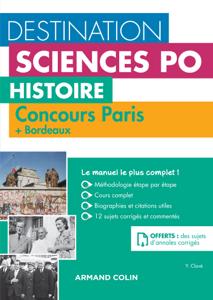 Destination Sciences Po - Histoire Concours Paris + Bordeaux La couverture du livre martien
