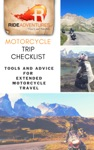 Motorcycle Trip Checklist Tools And Advice For Extended Motorcycle Travel