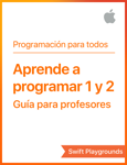 Swift Playgrounds: Aprende a programar 1 y 2