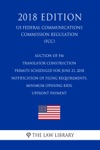 Auction Of FM Translator Construction Permits Scheduled For June 21 2018 - Notification Of Filing Requirements Minimum Opening Bids Upfront Payment US Federal Communications Commission Regulation FCC 2018 Edition