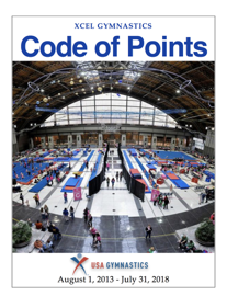 USA Gymnastics Xcel Code of Points book