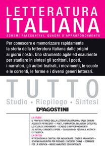 TUTTO - Letteratura italiana Copertina del libro