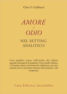 Amore e odio nel setting analitico Book Cover