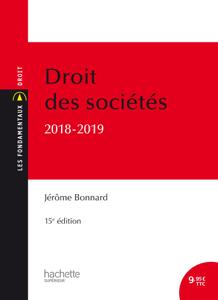 Les Fondamentaux Droit des sociétés 2018-2019 La couverture du livre martien