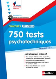 Tests psychotechniques - 750 QCM - Catégorie B et C - Intégrer la fonction publique - 2019/2020