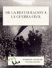 """Ignacio MartГn JimГ©nez - DE LA RESTAURACIГ""""N A LA GUERRA CIVIL portada"""