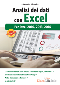 Analisi dei dati con Excel: per Excel 2010, 2013, 2016 Libro Cover