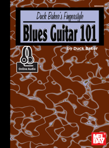 Duck Baker's Fingerstyle Blues Guitar 101 La couverture du livre martien