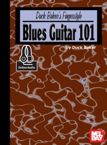 Duck Baker's Fingerstyle Blues Guitar 101 La couverture du livre martien