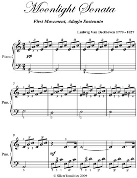 ‎Moonlight Sonata 1st Mvt Easy Piano Sheet Music