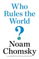 Noam Chomsky - Who Rules the World? artwork