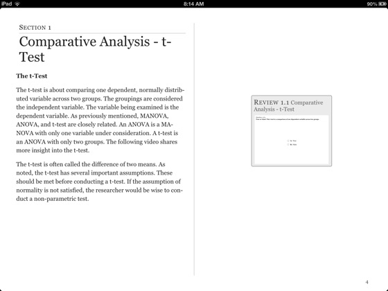 t-Test & ANOVA on Apple Books