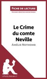 LE CRIME DU COMTE NEVILLE DAMéLIE NOTHOMB (FICHE DE LECTURE)
