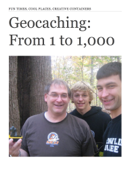 Geocaching: From 1 to 1,000