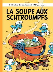 Les Schtroumpfs - tome 10 - La Soupe aux Schtroumpfs La couverture du livre martien