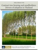 Contract Tree Farming and Smallholders: Drivers of Adoption In Thailand