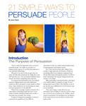 21 Simple Ways to Persuade People