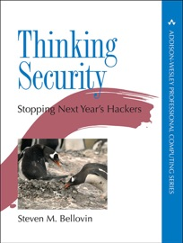 Thinking Security - Steven M. Bellovin