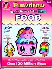 How to Draw + Color Cute Food - Fun2draw Lv. 2