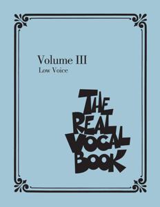 The Real Vocal Book - Volume III - Low Voice Edition La couverture du livre martien