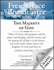 John Flavel, G. D. Watson, Thomas Chalmers, Charles H. Spurgeon & John Piper - Free Grace Broadcaster - Issue 171 - The Majesty of God artwork