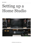 Setting up a Home Studio