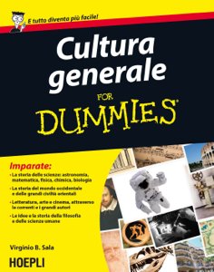 Cultura generale for Dummies Copertina del libro