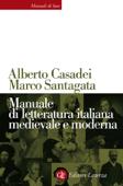 Manuale di letteratura italiana medievale e moderna Book Cover