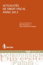 Actualit S De Droit Fiscal Anno 2013