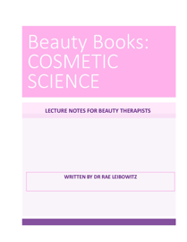Beauty Books Cosmetic Science