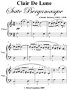Clair De Lune Suite Bergamasque Easiest Piano Sheet Music